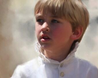 Boy Portrait I Custom Boy Portraits I Child Painting From Your Photo I Child Portraits by NC