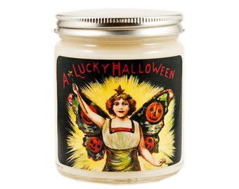 Halloween Candle, Scented Candle, Soy Candle, Vintage Halloween, Container Candle, Halloween Decor, Fall Candle, Halloween Decoration