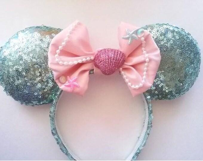 Pastel Mermaid Minnie ears