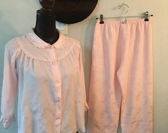 Vintage pink pajama set