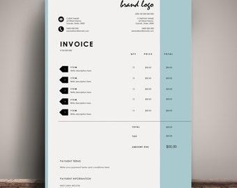 Invoice Template Receipt MS Word And Photoshop Template - Invoice format word document download online bead stores