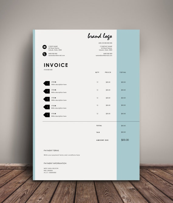 The 'Nelson' Invoice Template Receipt MS Word
