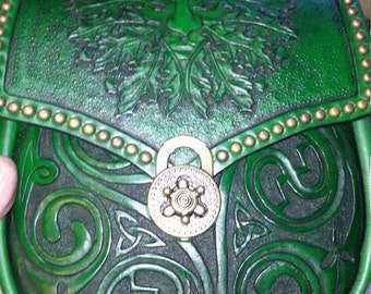 Celtic/green man belt bag sporran