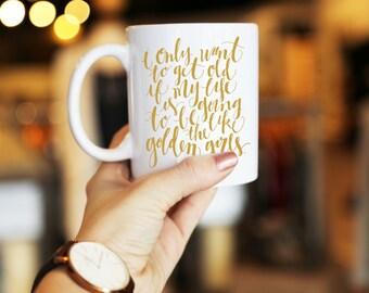 Golden Girls Funny Illustrated Coffee Mug