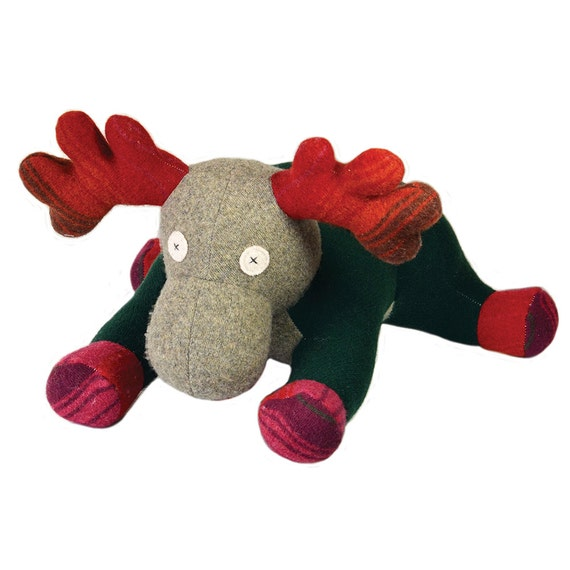 Unique Moose Stuffed Animal Baby Shower Gift Handmade Toy