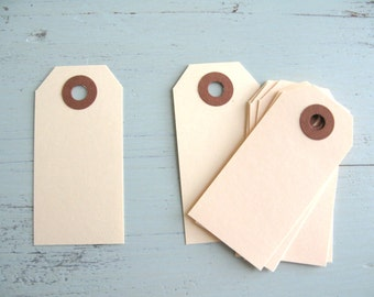 SALE ~ Small Parcel Tags 25 Count, Small Manila Parcel Tags, Small Manila Shipping Tags, Manila Gift Tags