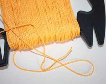 1.5 mm BRAIDED YELLOW Cord = 1 Spool = 110 Yards = 100 Meters of Elegant Polypropylene Rope for Macrame Knitting Sewing Crocheting Thread