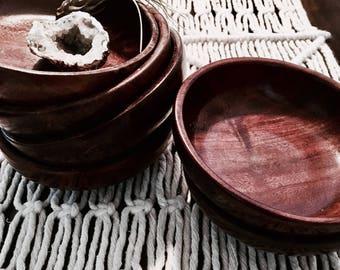Wooden bowl set | Vintage bowl set | Snack bowl