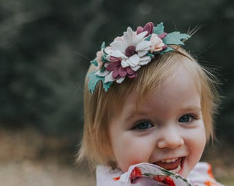 Spring Floral Headband    Flower Headband    Flower Crown