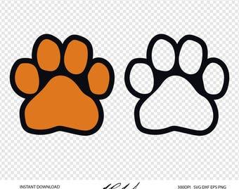 Paw Print Digital Cut Files - Digital Files - Paw Print SVG - Paw Print DXF - Paw Print EPS - Paw Print png - Vector - Paw Print Clipart