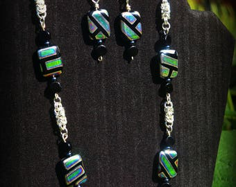 Geo Meets Byzantine Necklace and Earring Set