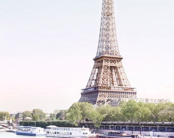 Paris Photography - Eiffel Tower with Bicycle, Paris Architecture, Urban Decor, French Decor, Large Wall Art