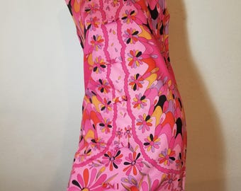 FREE  SHIPPING  1960  Psychedelic MOD  Pop Art  Dress