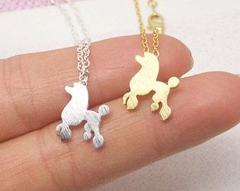 Dog Necklace, Puppy Necklace, Doggy Necklace, Animal Necklace, Dog Jewelry, Puppy Charm, Minimalist Necklace, Geometry Necklace NB681