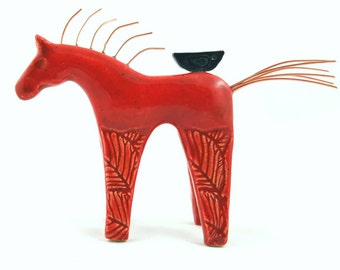 Horse sculpture, horse art, horse, horse pottery, pottery animals, gift for horse lovers, ceramic horse, horse figurine,