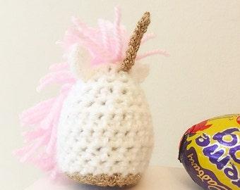 THE ORIGINAL, Unicorn Creme Egg Cosy, Egg Cover, Magical, Crochet, Easter