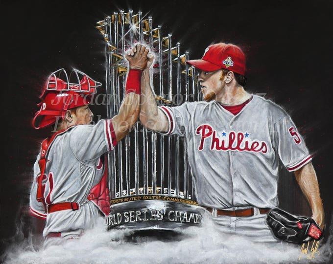 "Philadelphia Phillies World Series Champions ""Dynamic Duo"" open edition art print"