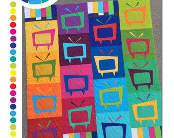 Mod TV Quilt Pattern by Colourwerx - Print Pattern