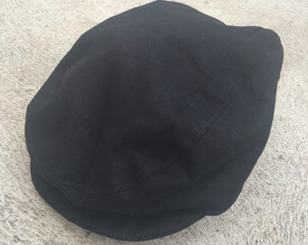 Baby and boys black vintage rockabilly flat cap newsboy hat