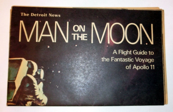 Vintage Detroit News Newspaper Edition – Man on the Moon - The Detroit News 1969 Special Guide to Apollo 11 – Collect or Use