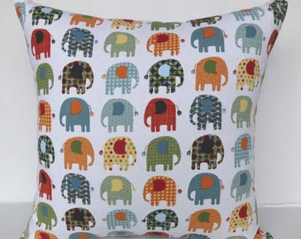 Printed pillow cover- Elephant print pillow cover-26 inch-Euro sham