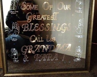 Personalized Etched Mirrors