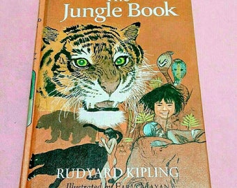 Vintage copy of The Jungle Book by Rudyard Kipling HC Copyright 1963