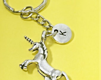 3D unicorn keychain, unicorn keychain, unicorn key ring, personalized, initial keychain, custom key ring, I belive in unicorns,gift for bff