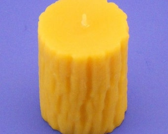 Tree Bark Candle, 2.4 x 3 Bees Wax Pillar Candle, Ash Tree Candle, Pure Bees Wax Cappings Candle, Natural Candle, Awesome Birthday Gift