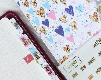 Planner Tabs - Hobonichi Planner Tabs - TN Tabs - Divider Tabs - Traveler's Notebook Divider Tabs - Hobonichi Stickers