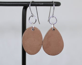 brown concrete earrings, concrete jewelry, modern jewelry, geometric jewelry, minimalist jewelry, unique gift, gift for her