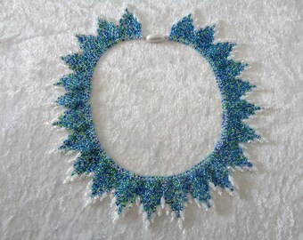 """Necklace """"Fairy wings"""" in sea colors"""