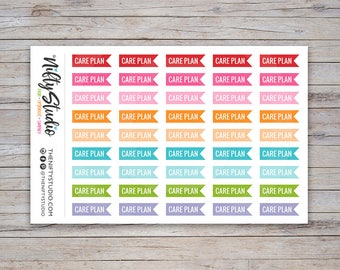 Care Plan Nursing School Planner Stickers for School | Stickers for College | The Nifty Studio [220]