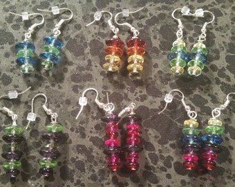 Glass Round Beaded Earrings - Pick Your Color