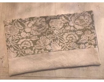 Shabby Chic Floral Linen Pillow Cover Farmhouse Cottage Style Bennison & Rachel Ashwell Damask