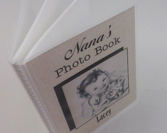 Grandmas Photo Album Baby Photo Album Boy Girl Grandmas Brag Book personalized photo album shower  gift 4x6 or 5x7 picture Vintage Retro 255