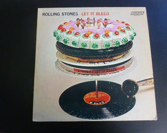 Rolling Stones Let It Bleed Vinyl Record LP NPS-4 with Poster/Fan Club Insert London Records 1969