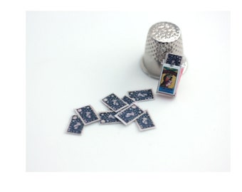 Dollhouse miniature tarot cards: