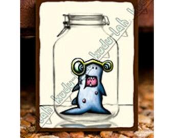 Shark Jr (Mason Jar Critter Art)