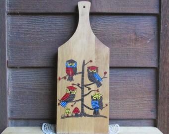 Owl Kitchen Decor| Wood Owl Wall Art