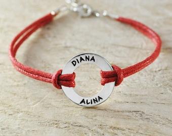 engraved name bracelet-sterling silver-custom couple bracelet-rope chain-sport bracelet