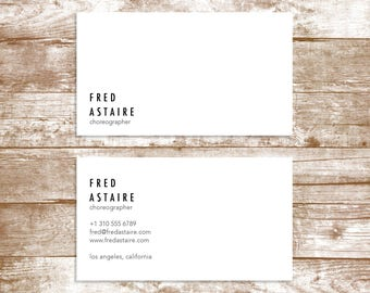 The 'Fred Astaire' Business Card