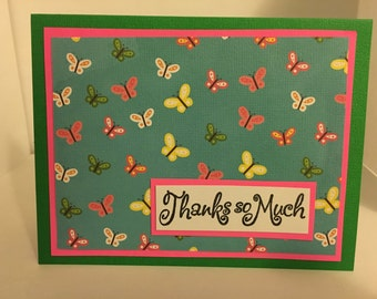 Butterfly Thank You Cards- Handmade