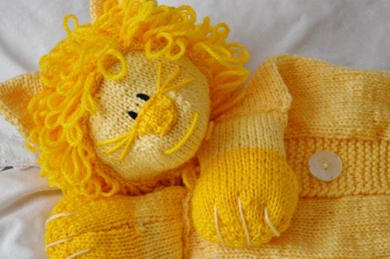 Knitting Pattern Lion Pyjama Case Knitting Pattern Download