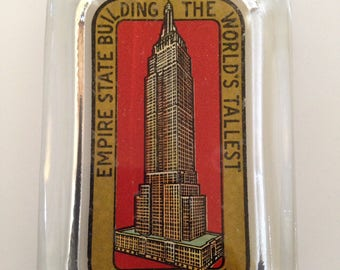 Empire State Building Paperweight | New York Souvenir | Glass |