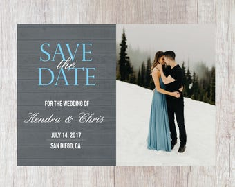 Save the Date - 7x5 - Design or Print