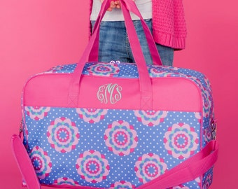 Monogrammed Weekend Bag Luggage Tote Bag Overnight Travel Duffle Duffel Zoey