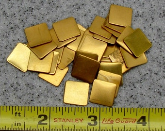 "1/2"" Brass Square 24 Gauge  Pack of 36"