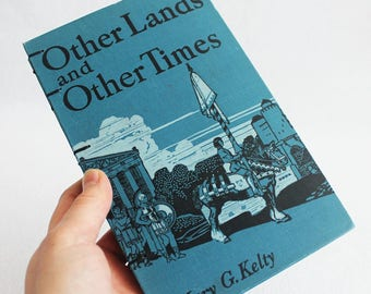 Old Book Journal / Recycled Vintage Book / Travel Journal / Other Lands and Other Times Rebound Journal by PrairiePeasant