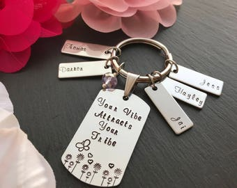 Personalised Gift for Her - Mothers Day Gift - Hand Stamped Keychain - Girlfriend Gift - Gift For Her - Australia - Gift for Women